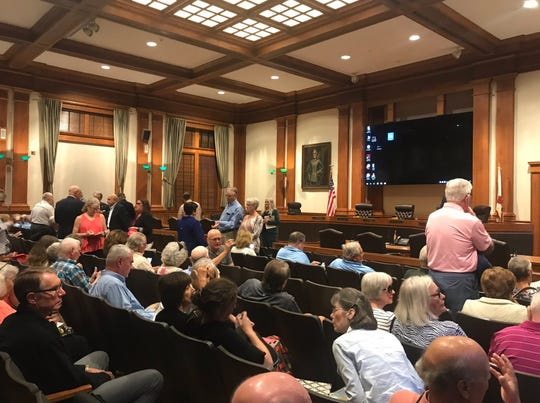 People attend the Lee County Commission's comprehensive plan hearing on Wednesday, April 17, 2019. The BOCC is considering proposed changes to limerock mining rules. The meeting started at 9:30 a.m.