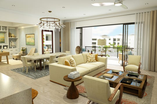 Phase I at Eleven Eleven Central includes five open-concept floor plans.