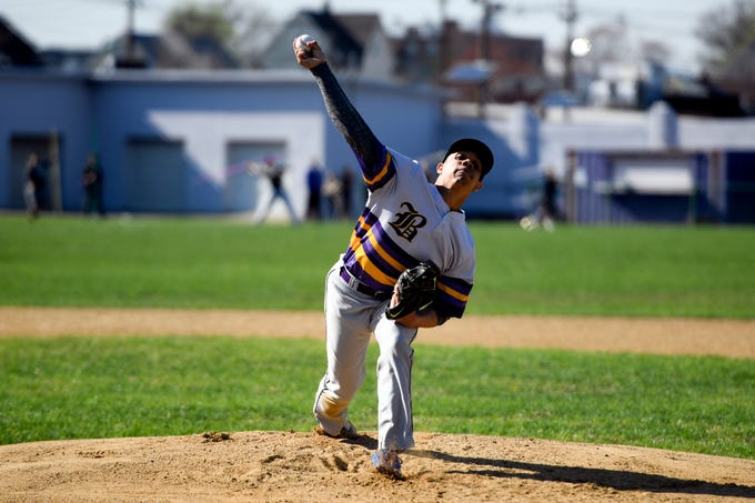 Bogota's Jose Marte pitches to Garfield on Wednesday, April 17, 2019, in Garfield.