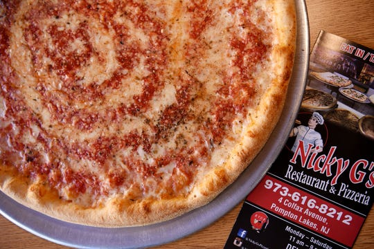 The Pomodoro pizza at Nicky G's in Pompton Lakes on Wednesday April 17, 2019.