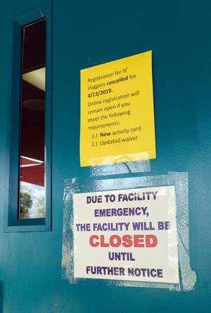 Meerscheidt Recreation Center remained closed to the public on Tuesday to house migrants and it will remain closed until at least Thursday.