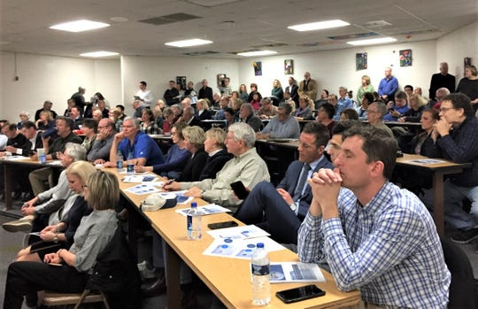 The Hillside Middle School conference room was filled up for the April 16 Northville Planning Commission meeting.