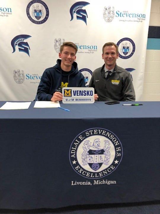 Stevenson's Austin Vensko will run cross country for U-M Dearborn.