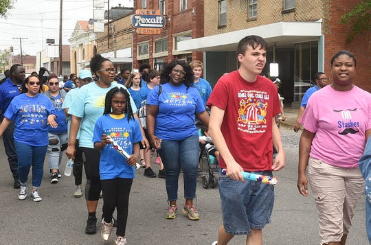 Autism Awareness Month observed in Opelousas with an autism awareness walk through the streets of Opelousas.