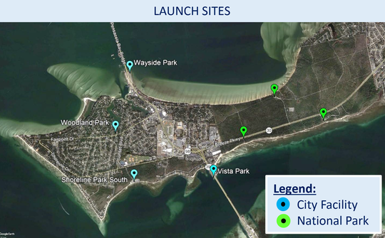 The Blueways Plan for Paddlers will consist of kayak launch sites at seven key points around Gulf Breeze, including four city parks.