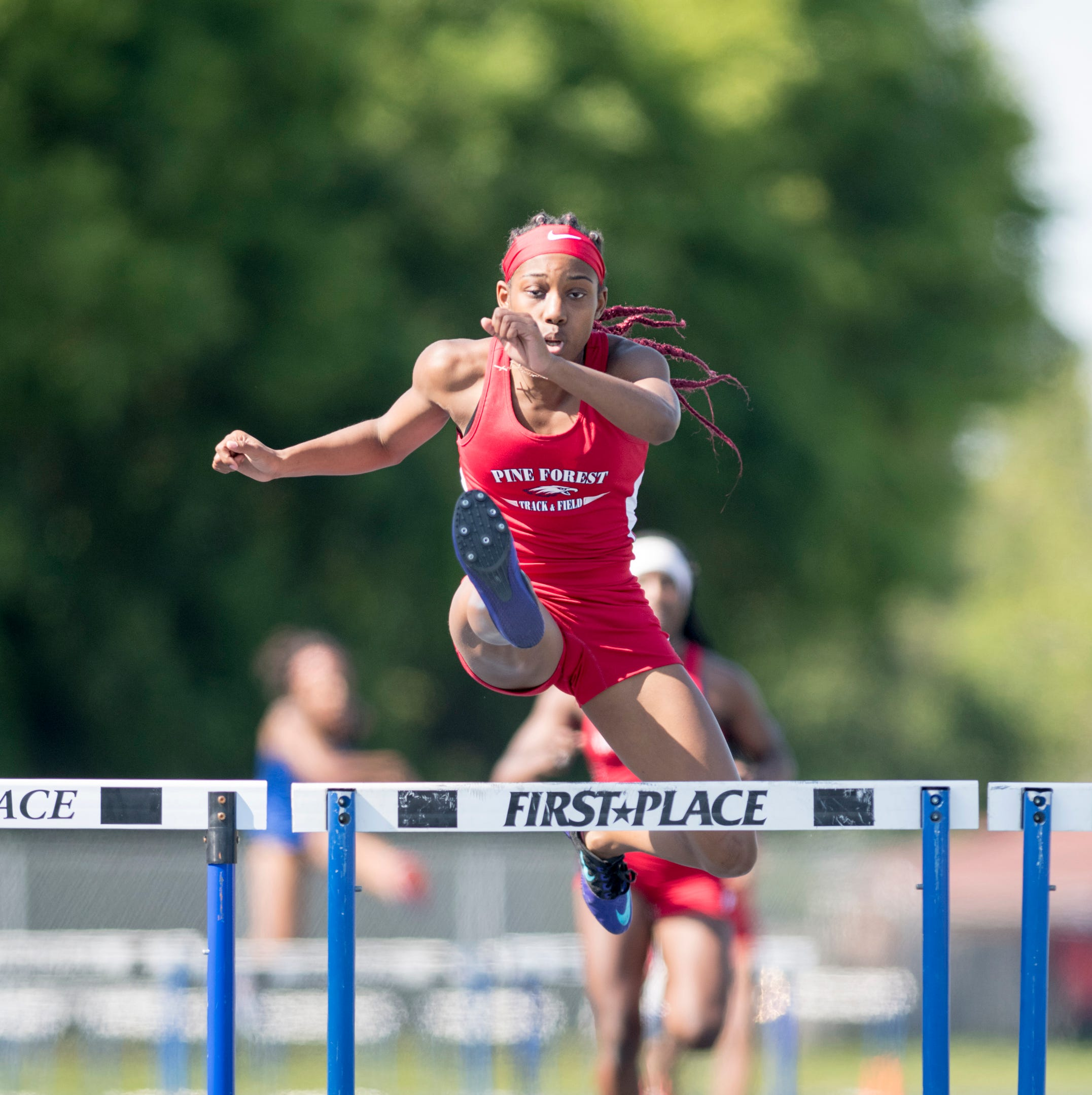 Pine Forest hurdling champion Koriyunna Arrington leads Eagles' region title defense