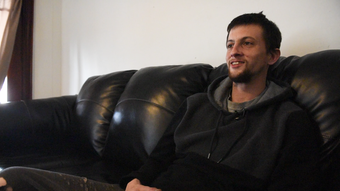 Michael Vanbourgondien has lived in The Dominic House, a men's recovery home, for the last eight months dealing with a heroin addiction.