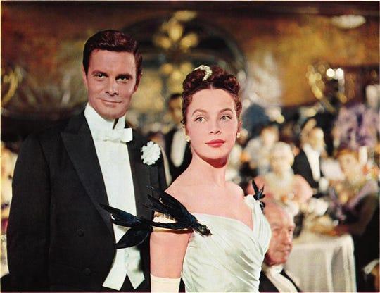 "Louis Jourdan and and Leslie Caron star in 1958's ""Gigi."""