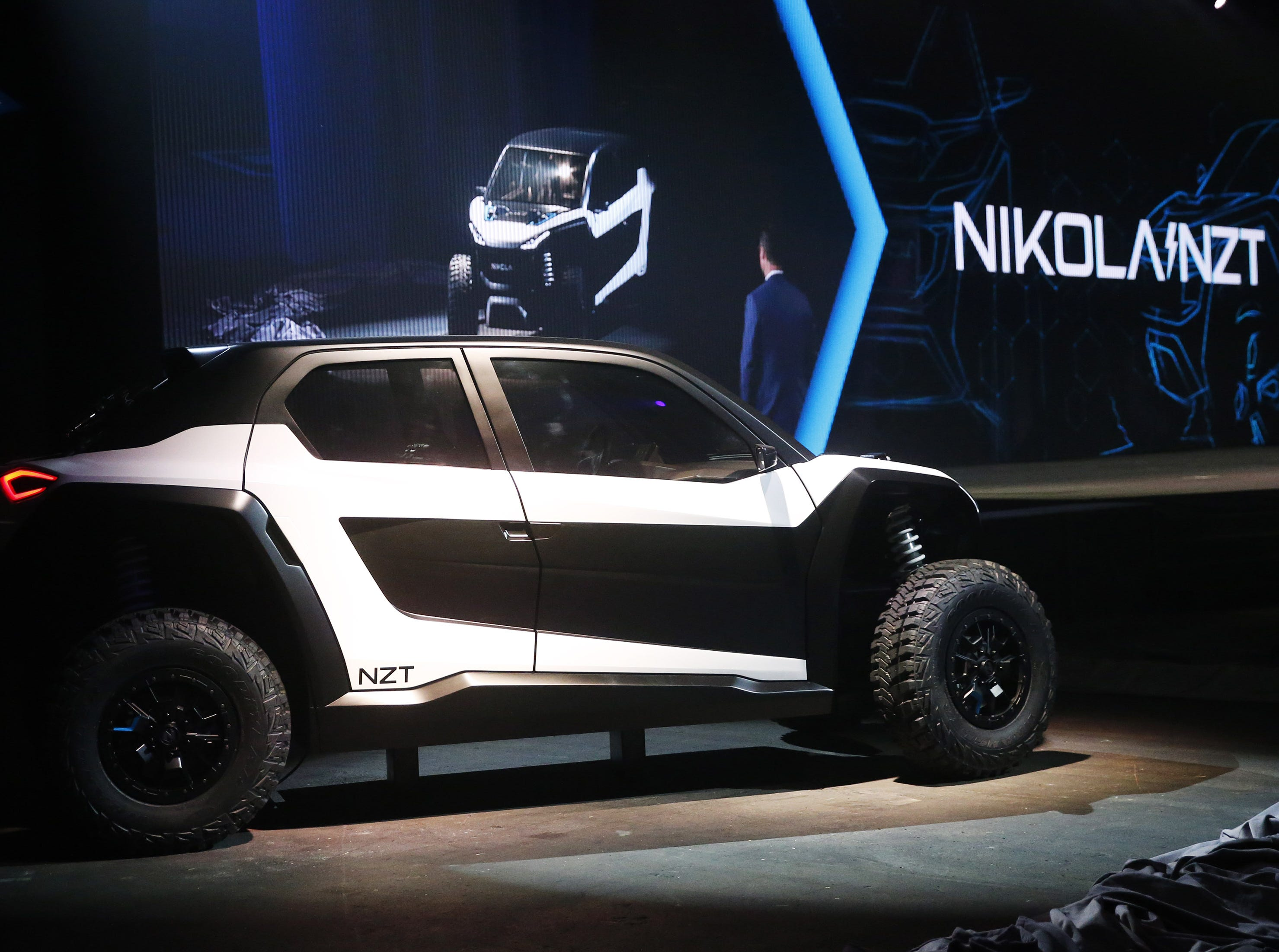 The Nikola NZT shown at Nikola World 2019 at Westworld in Scottsdale, Ariz. April 16, 2019.