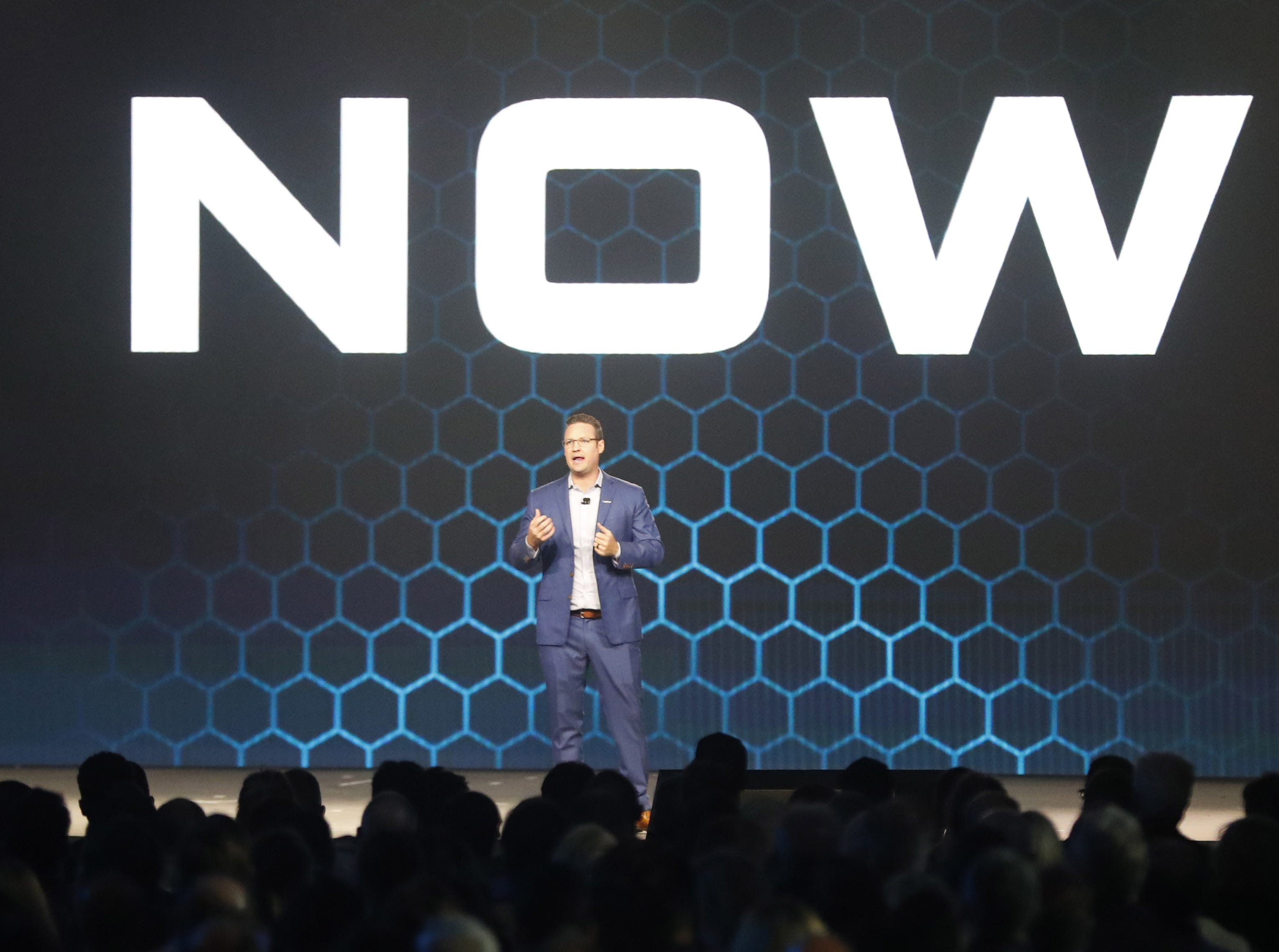 Trevor Milton, Nikola CEO and founder, speaks at Nikola World 2019 at Westworld in Scottsdale, Ariz. April 16, 2019.