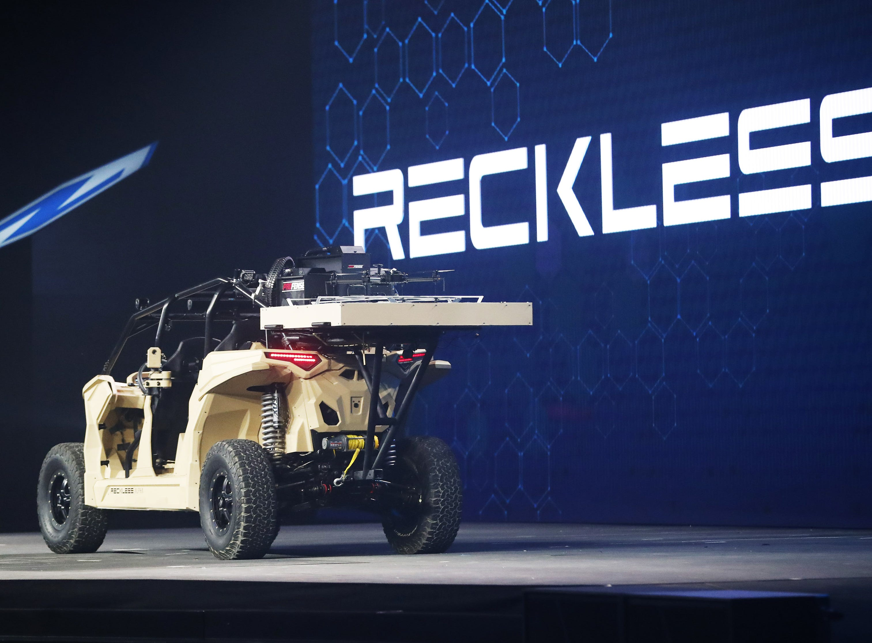 The Nikola Reckless shown at Nikola World 2019 at Westworld in Scottsdale, Ariz. April 16, 2019.