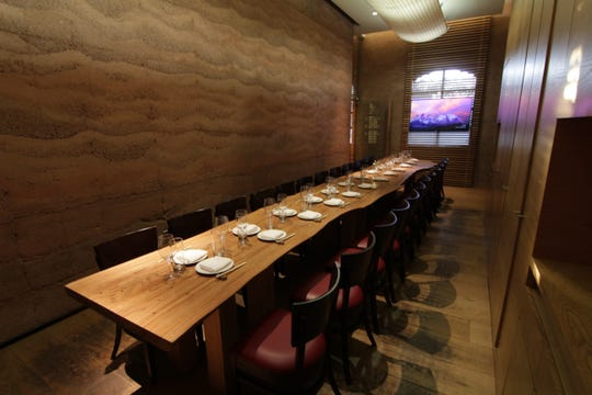Roka Akor, the modern Japanese restaurant in Scottsdale, offers a private dining room that can seat up to 25 guests at a boardroom style table.