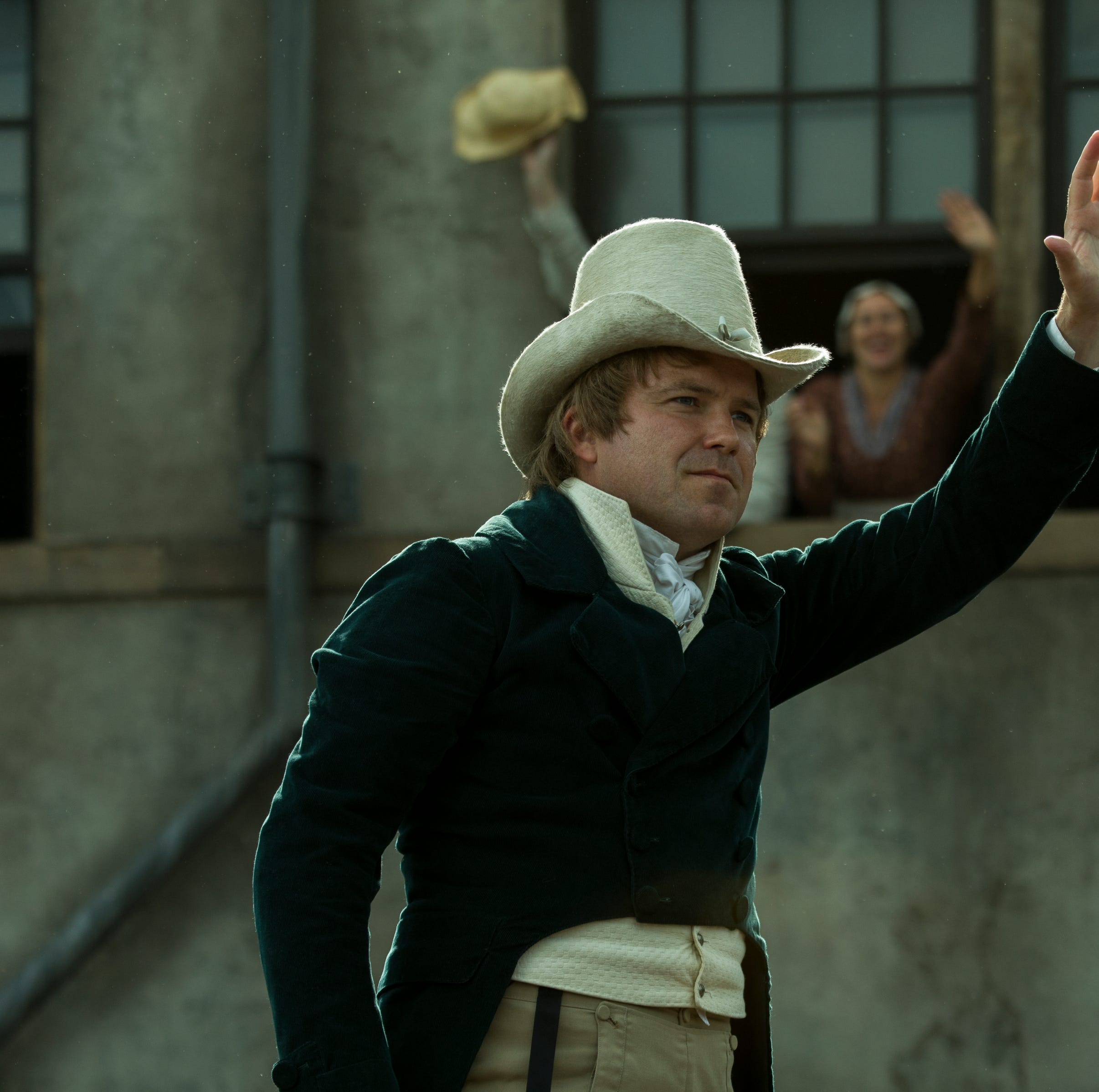 "Rory Kinnear plays Henry Hunt in ""Peterloo."""