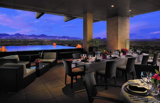 Located at the top of the hotel on the 15th floor, Orange Sky restaurant sets the senses ablaze with its signature dishes and panoramic views of the Valley's signature sunsets.