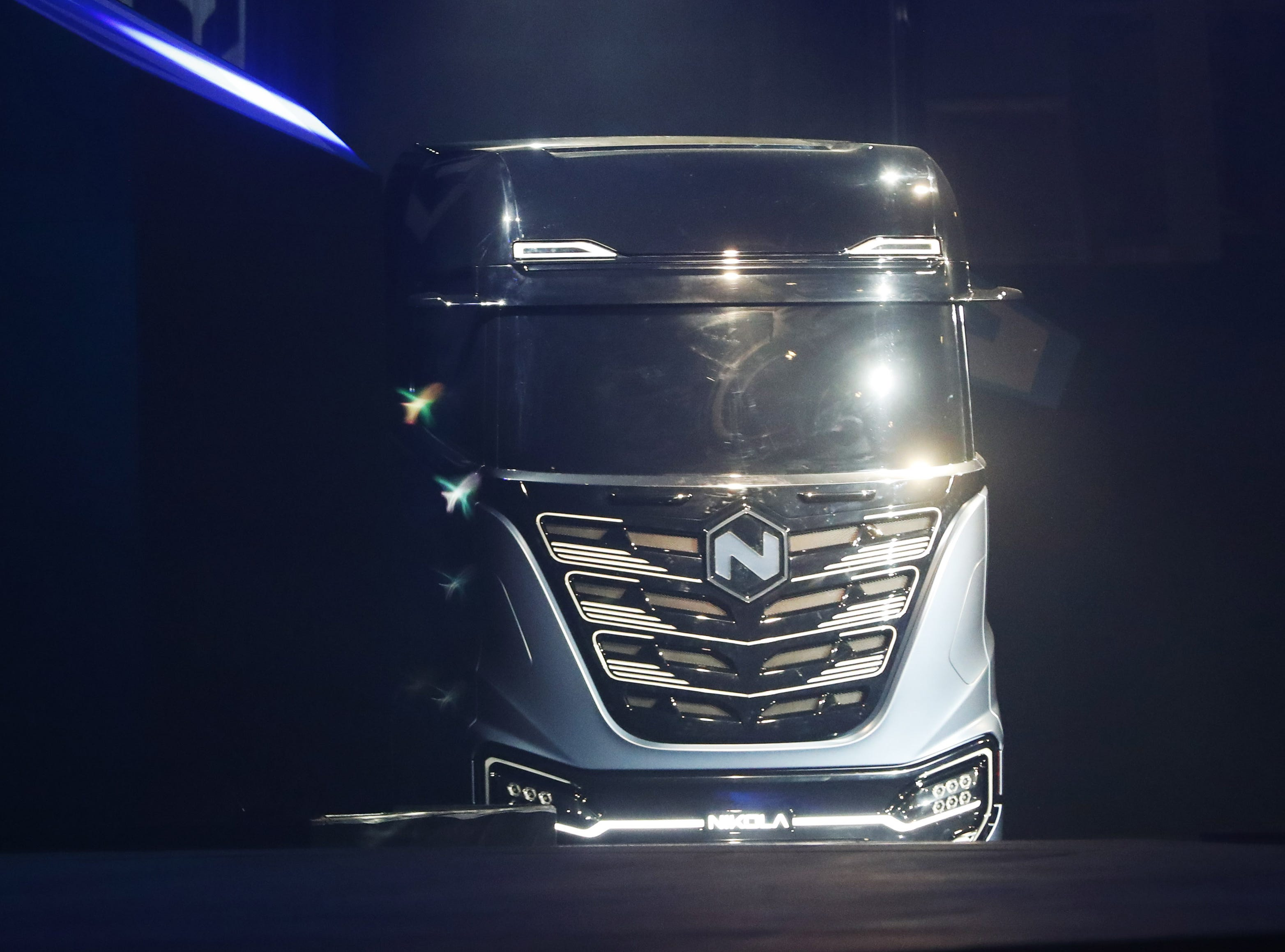 The Nikola Tre shown at Nikola World 2019 at Westworld in Scottsdale, Ariz. April 16, 2019.