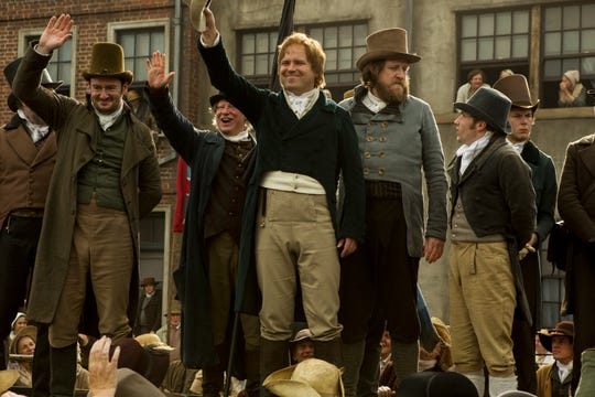"""Peterloo"" features (from left)  John-Paul Hurley, Ian Mercer, Rory Kinnear and Neil Bell."