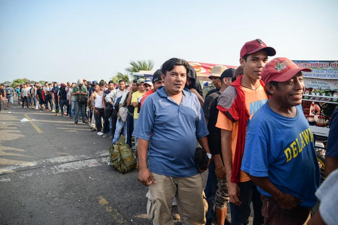 Integrantes de la caravana migrante.