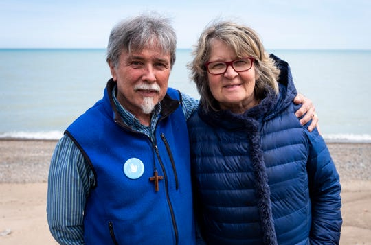 Mike and Ande McCarthy, of Fort Gratiot, answered a religious group's call for volunteers and went to the border to help organize the arrival of immigrants into the country, primarily from Central America.