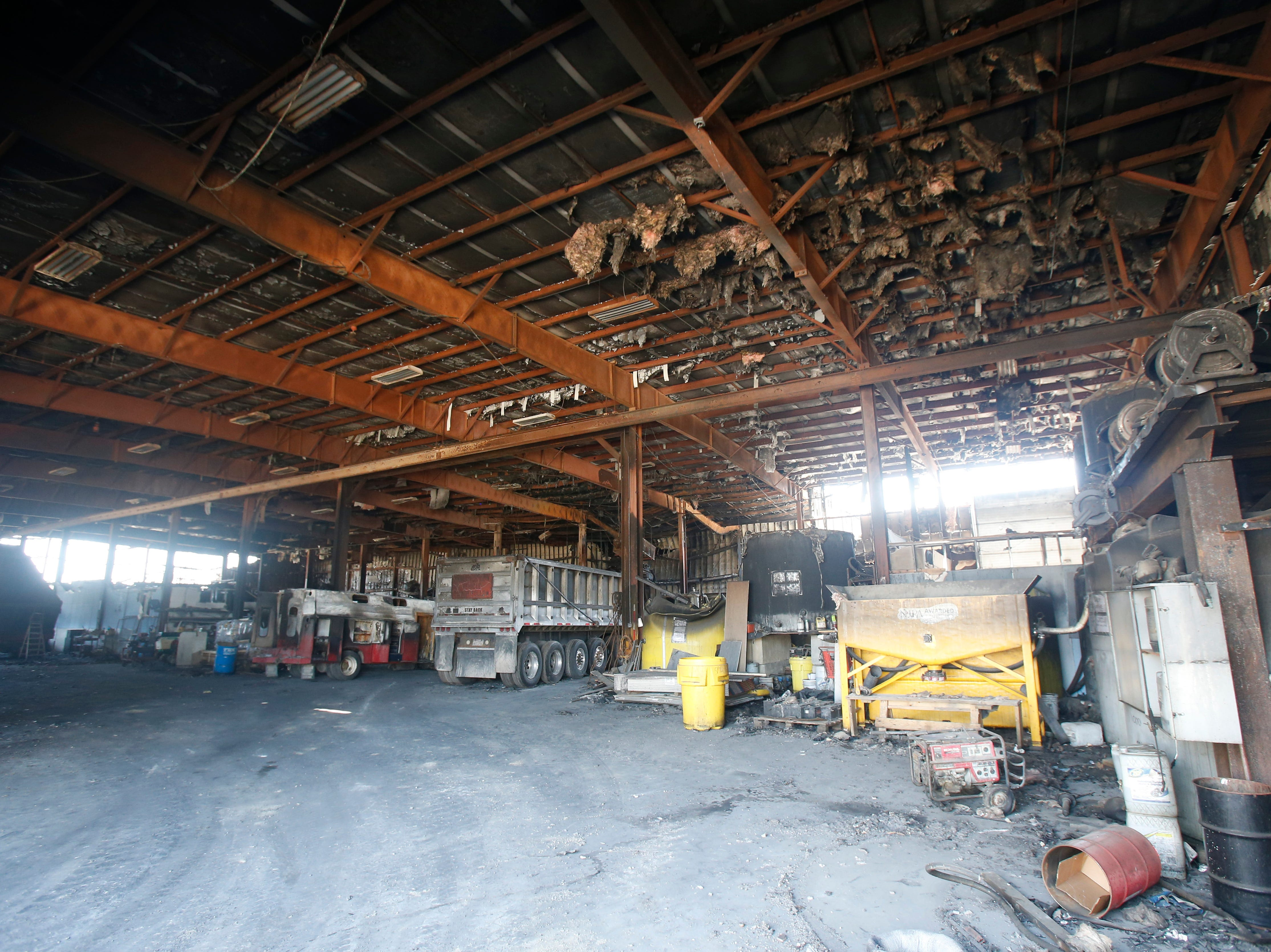 Inside Gleason Incorporated's building in the Town of Poughkeepsie on April 17, 2019. A fire in March damaged the building beyond repair.