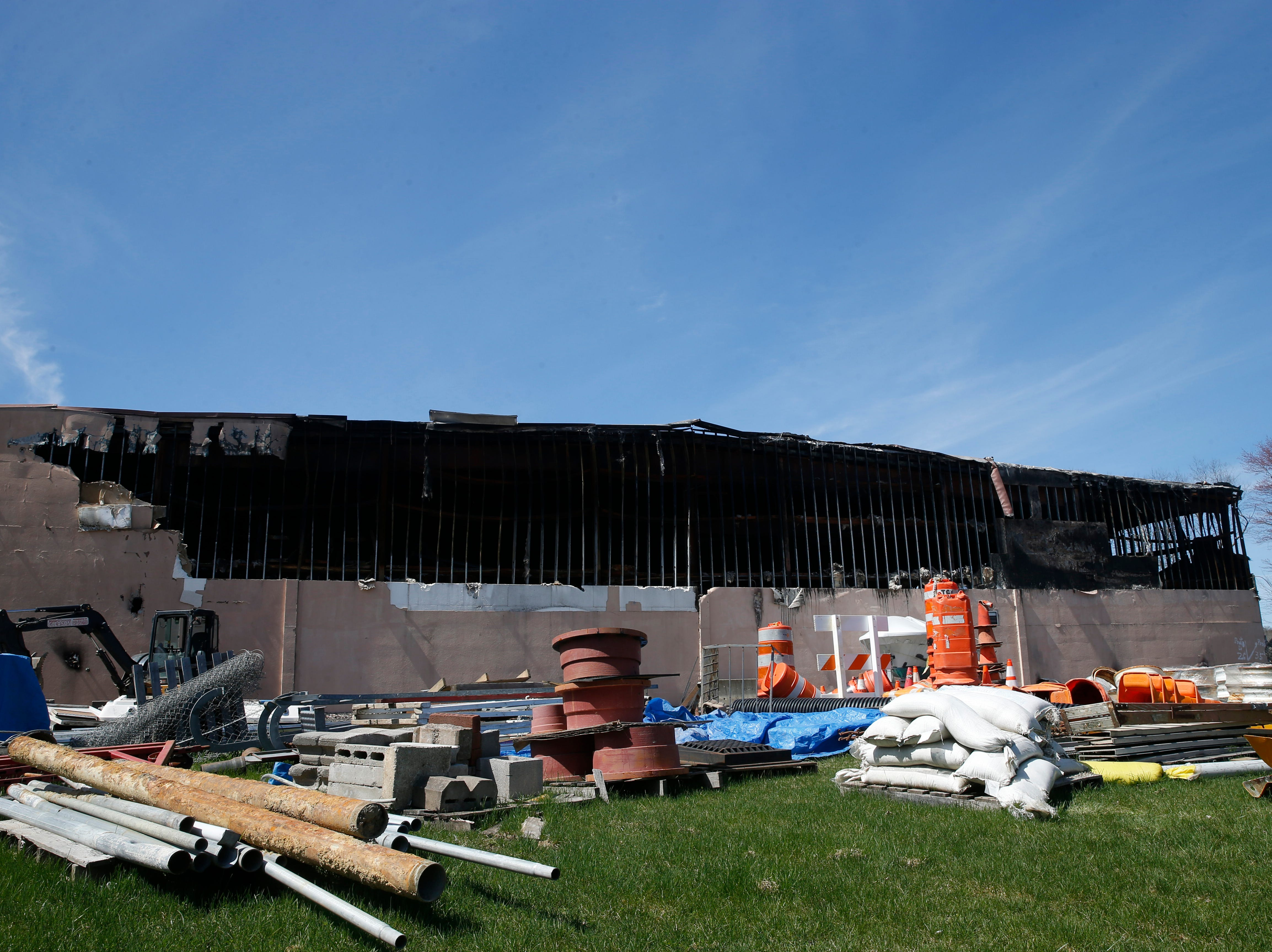Gleason Incorporated's building in the Town of Poughkeepsie on April 17, 2019. A fire in March damaged the building beyond repair.  The Gleason family has recently been allowed to enter the structure to assess the damage and discover what was destroyed.