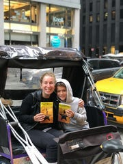 A broken leg didn't deter Susan Sagan Levitan from traveling to New York to see the show with her son Max.