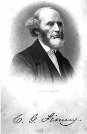 Portrait of 19th century evangelist,  Charles G. Finney.