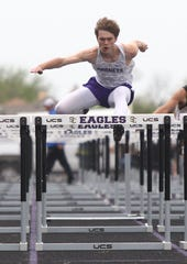 Irion County High School's Wesley Tillman won the boys 110-meter hurdles at the Districts 11&12-1A Area Track and Field Meet Tuesday, April 16, 2019, in Sterling City.