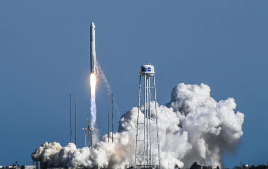 The NG-11 mission, part of Northrop Grumman's Antares program, was successfully launched at 4:46 p.m. Wednesday, April 17, 2019 at the NASA Wallops Virginia facility. It marked the 10th success in the six years since the Antares program arrived at Wallops.