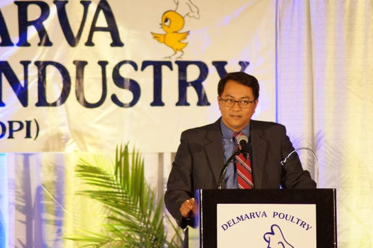 Dr. Dan Bautista received the Edward H. Ralph DPI Medal of Achievement at the DPI Booster Banquet on Tuesday, April 16, 2019.