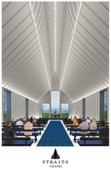 The interior of the Straits Chapel, a new event space in Kohler will be opening up in 2020.