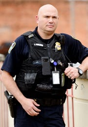 Jason Frazier is a corporal officer who is a candidate for police chief.