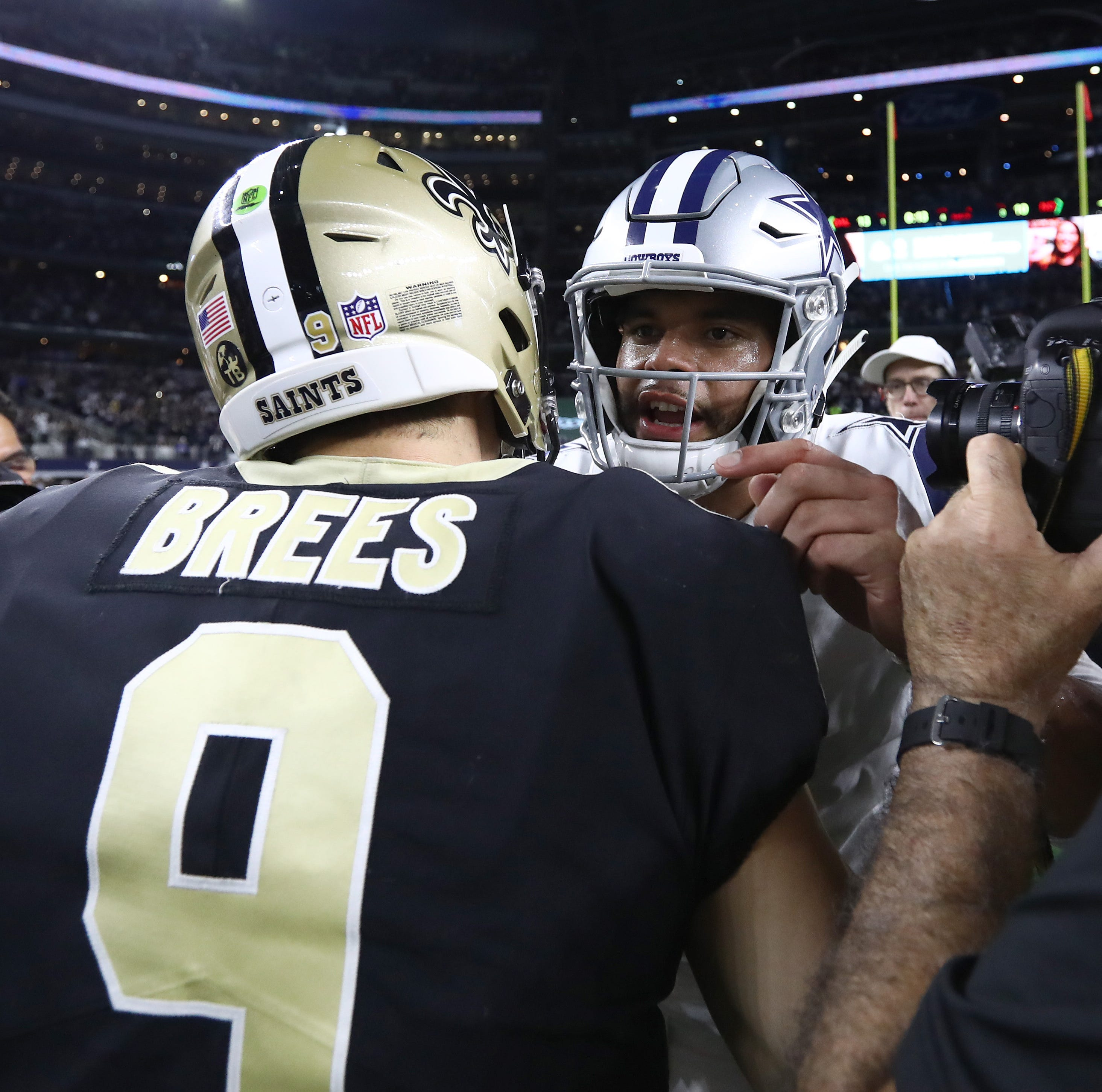 Dallas Cowboys quarterback Dak Prescott (4) and New Orleans Saints quarterback Drew Brees will meet in the Superdome this season.
