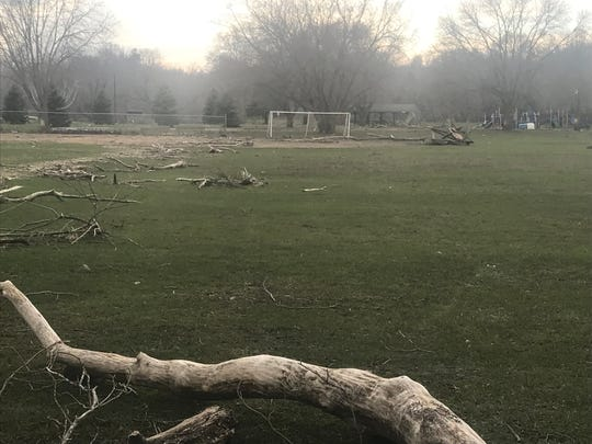 McHardy Park is still in need of work following the heavy snow and rain from the March storms in Brandon.