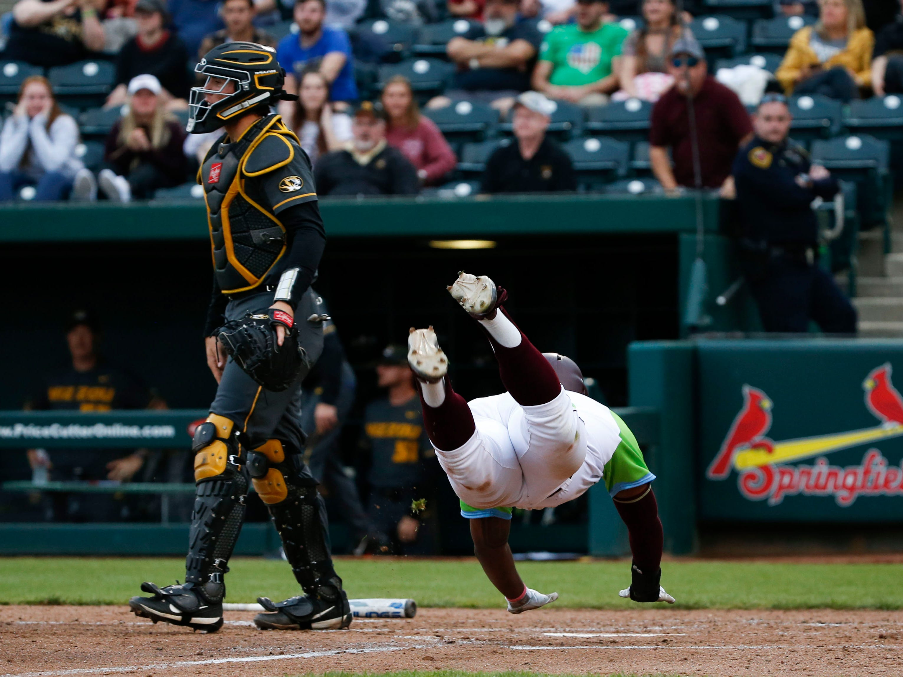 The Missouri State Bears take on the Mizzou Tigers at Hammons Field on Tuesday, April 16, 2019.