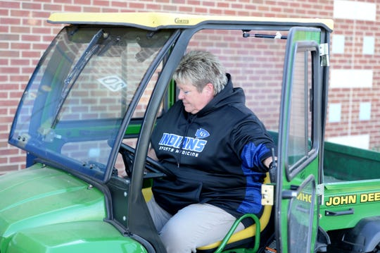 Fort Defiance's Becky Anhold is retiring as the school's athletic trainer following this school year.
