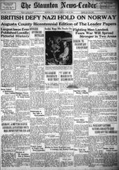 April 16, 1940 edition of the Staunton News Leader.