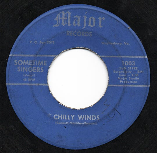 Chilly Winds 45 rpm record.