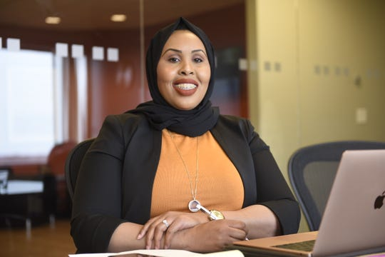 Hudda Ibrahim poses for a photo in St. Cloud on April 15th.