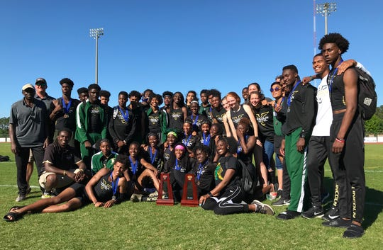 Lincoln's girls and boys track and field teams both captured District 3-3A titles on Monday at Chiles.