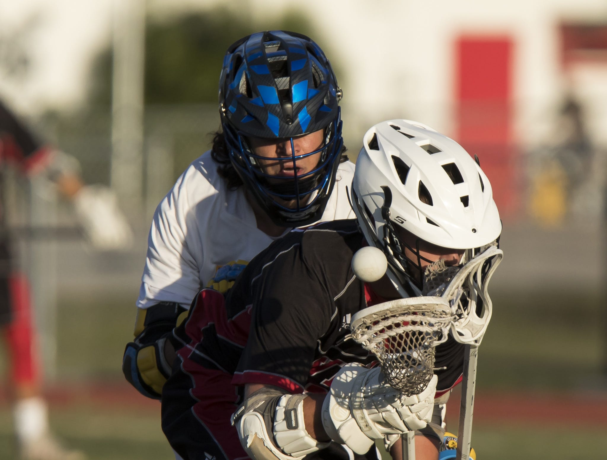 Vero Beach plays against Martin County during the high school boys lacrosse game Tuesday, April 16, 2019, at Vero Beach High School.