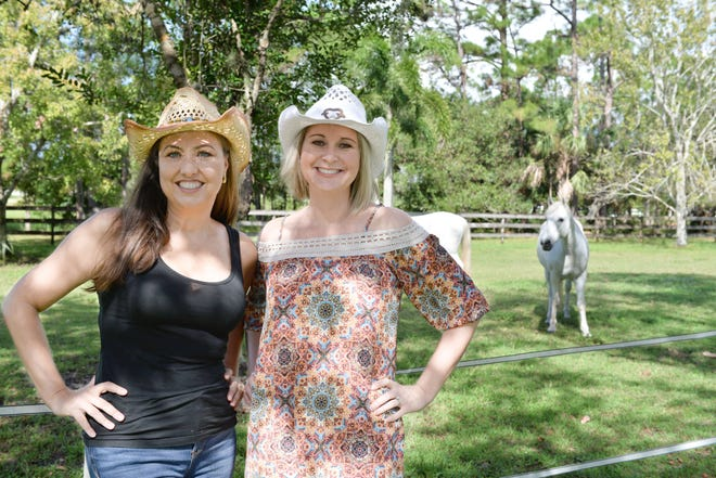 "Heidi Monsour, left, and Michelle Schwartz are co-chairs of Raise the Roof for Hibiscus Children's Center's ""Gone Country"" fundraiser set for 7 to 11 p.m. April 27 at the Martin Country Fairgrounds, 2616 S.E. Dixie Highway, Stuart."