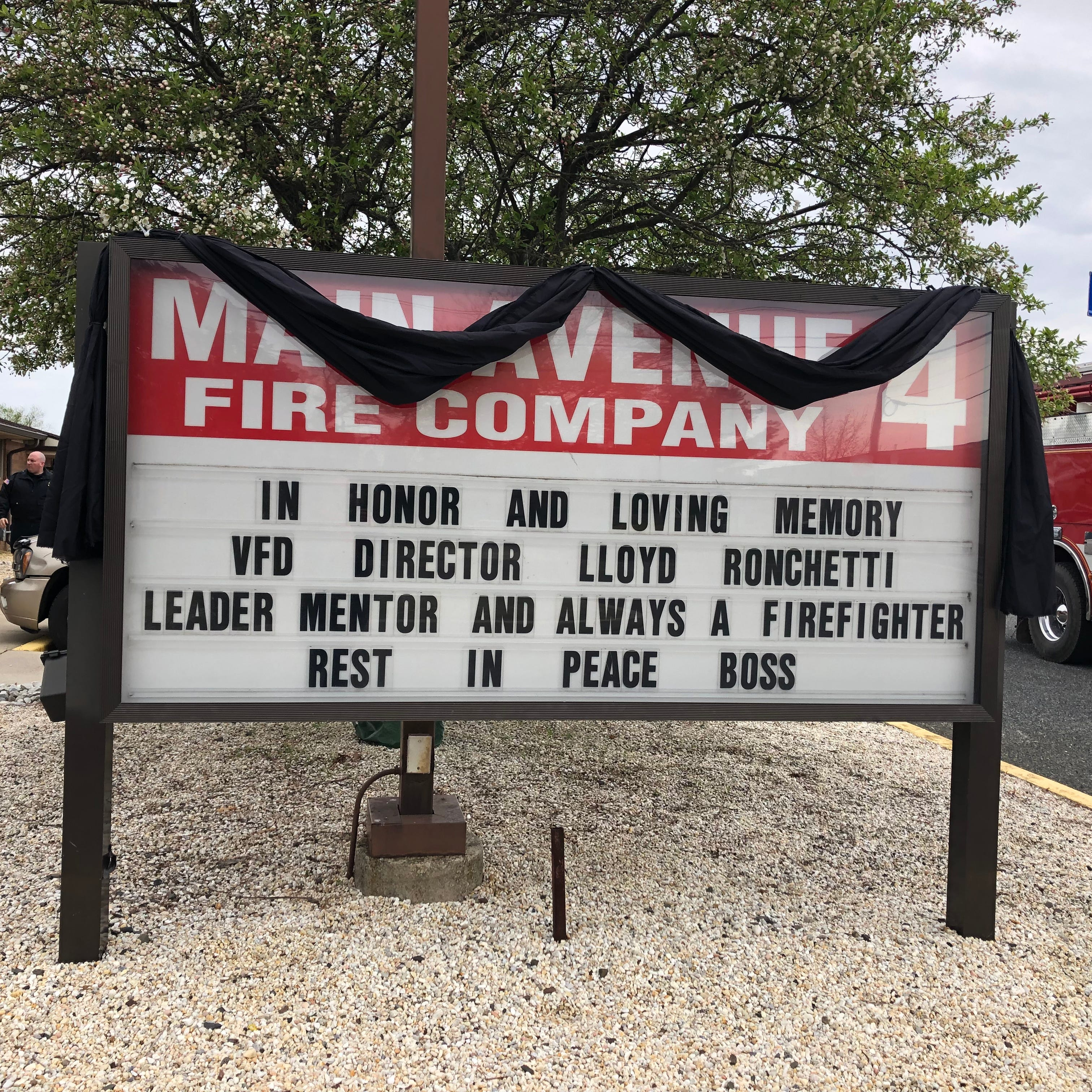 Firefighters bid farewell to former Vineland Fire Director Lloyd Ronchetti Sr.