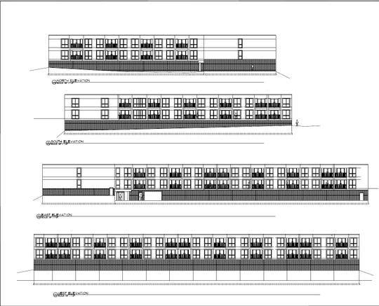 The proposed Mountain Lanes Apartments.