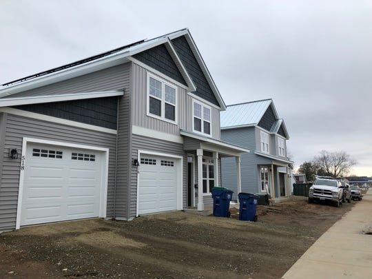 The Thomas Street duplexes are being built by Blenker Companies, Inc.