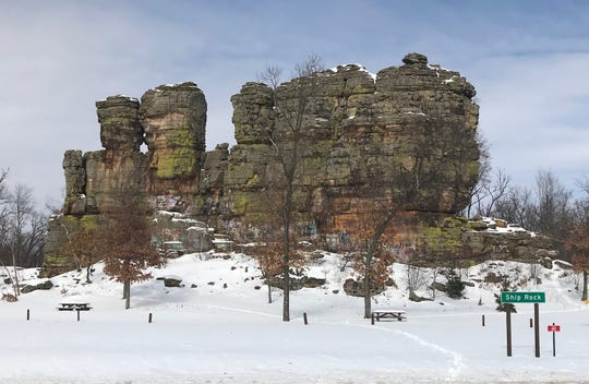 Ship Rock is a sandstone formation in Adams County.