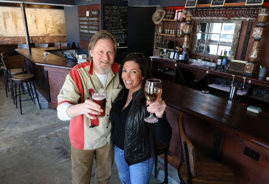 Owners Tracy Shea and Toni Senecal are pictured at the Tapsmith in Croton, a new beer and bar food establishment in Croton-on-Hudson, photographed April 17, 2019.