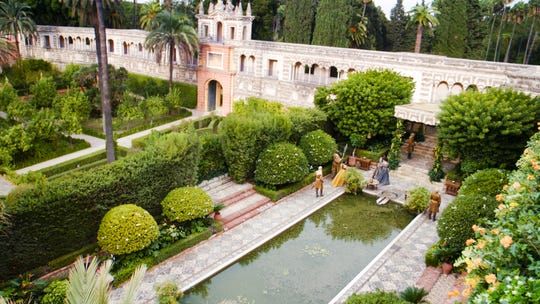 Dornish Water Gardens in a scene from Game of Thrones.