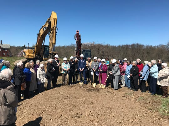 Sisters of Charity Housing Development Corp. and Rockabill Development LLC and government officials celebrate groundbreaking for Vincent's Village, a 93-unit affordable senior housing complex development in Nanuet.