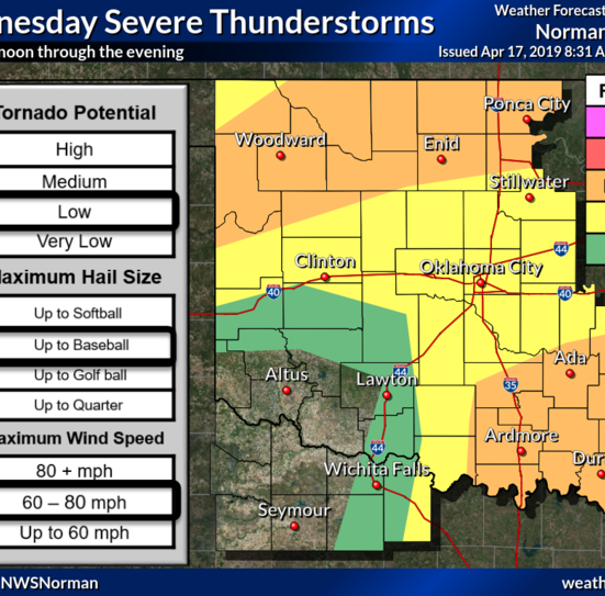Storms possible this afternoon and evening