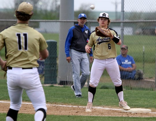 Archer City's Dylan Briggs plays first and hits cleanup for the Wildcats, batting.363 with five homers and 31 RBIs